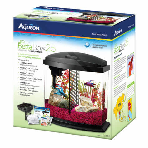 Aqueon BettaBow LED Desktop Fish Aquarium Kit