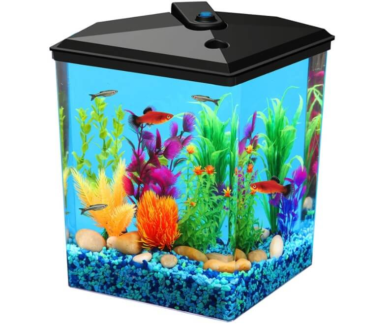 Koller Products AquaView 2.5-Gallon Fish Tank