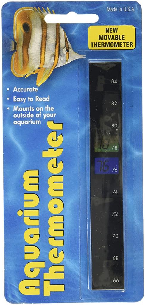 LCR Hallcrest A-1005 Liquid Crystal Vertical Aquarium Thermometer