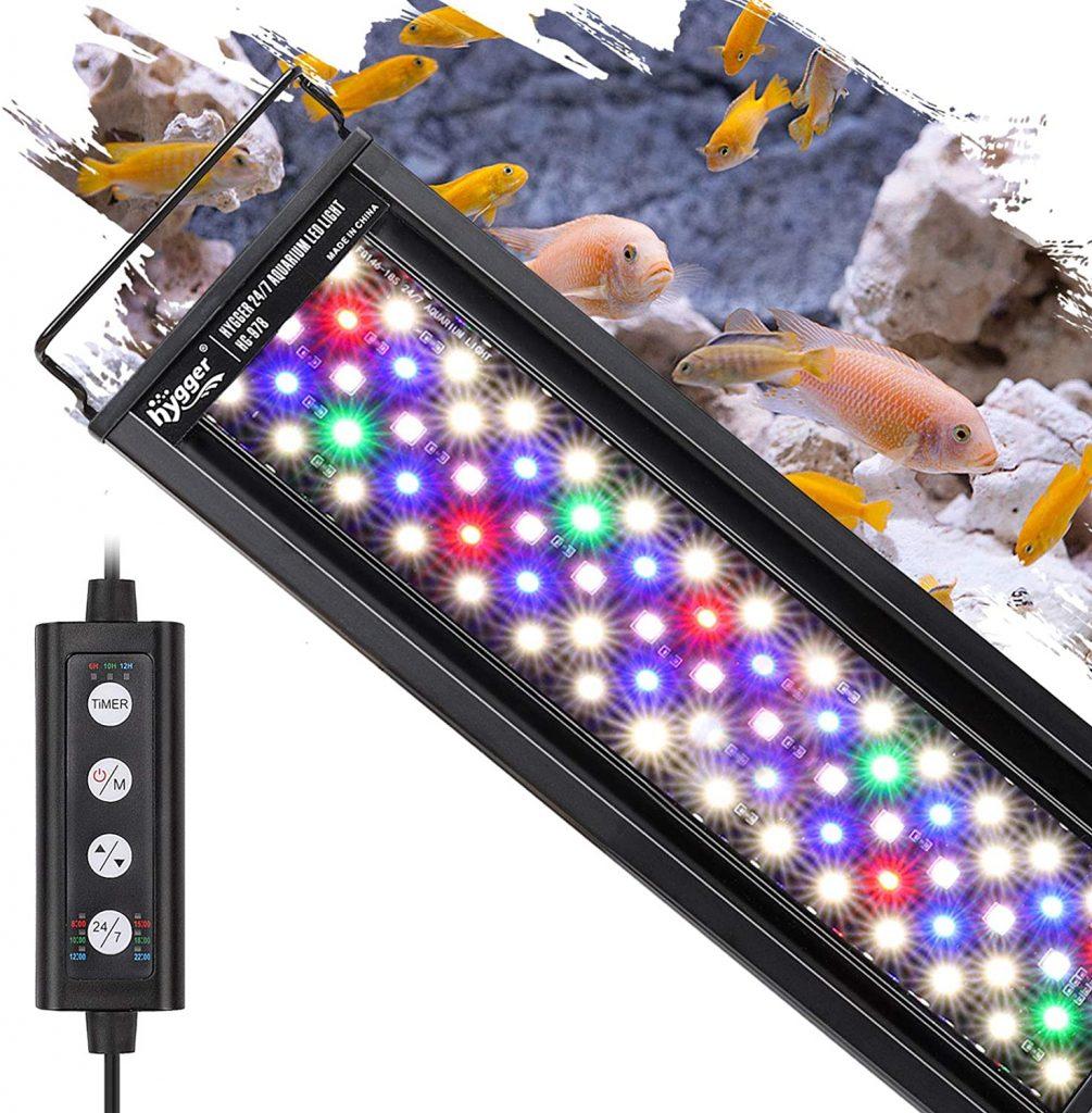 Hygger 18W 24/7 Lighting Aquarium LED Light,